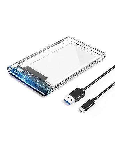 ORICO USB-C 2.5インチ HDD/SSDケース USB3.1 ドライブケース 5Gbps転送 透明ハードディスクケース 4TBまで