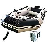 ゴムボート エアボート PVC製 オール付き アンカー モーターマウント リペアキット付き 収納袋付き 耐荷重300kg 重量16.6kg [並行輸入品]