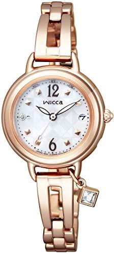 [シチズン]CITIZEN 腕時計 wicca ウィッカ ソーラーテック電波時計 ブレスライン HAPPY DIARY KL0-961-11 レディース