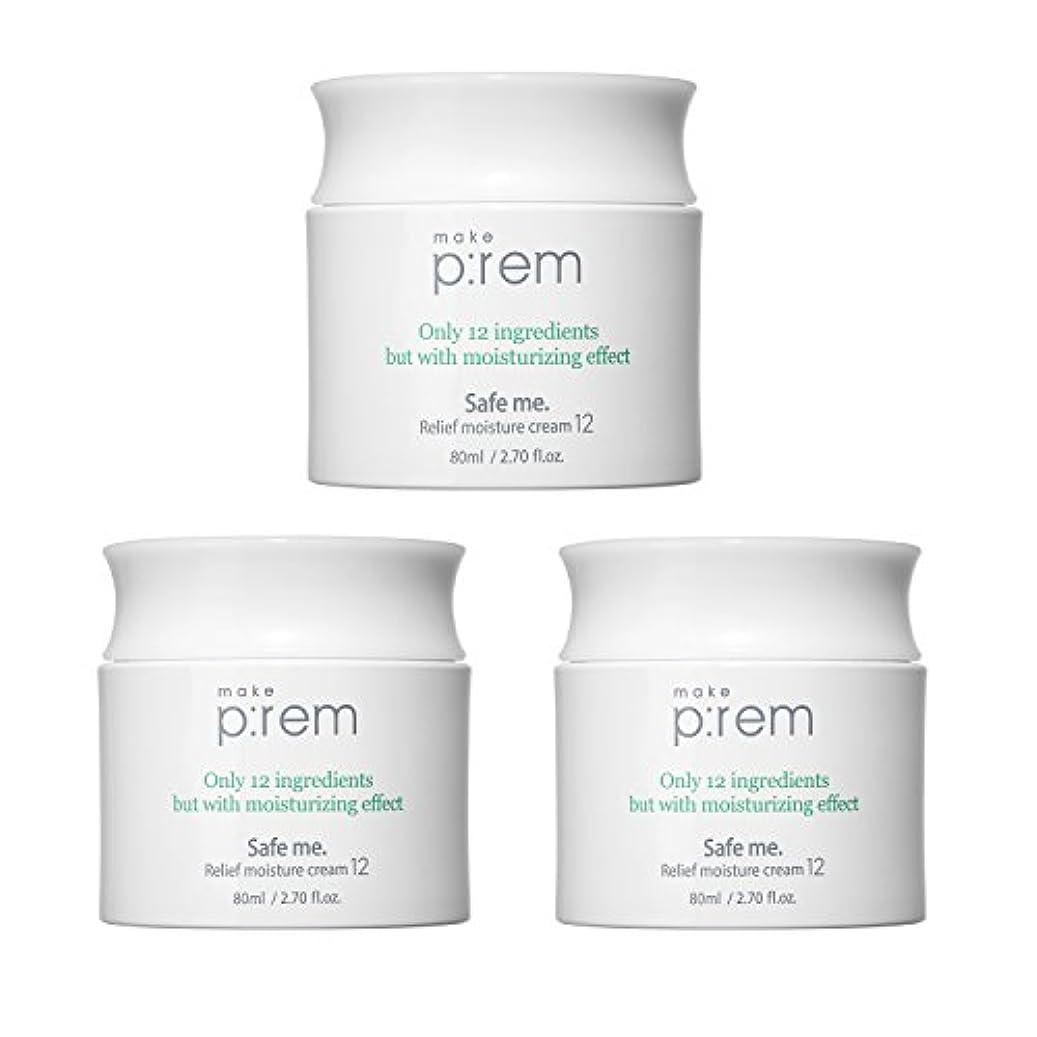 無駄なイブニング機動(3個セット) x [MAKE P:REM] メイクプレム セーフミ?リリーフモイスチャークリーム12 80ml / Safe me. Relief moisture Cream 12 80ml / / 韓国製 . 海外直送品