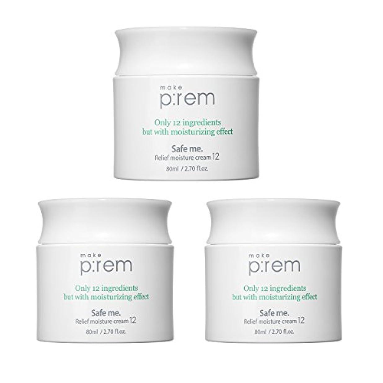 糞賭け注入(3個セット) x [MAKE P:REM] メイクプレム セーフミ?リリーフモイスチャークリーム12 80ml / Safe me. Relief moisture Cream 12 80ml / / 韓国製 . 海外直送品