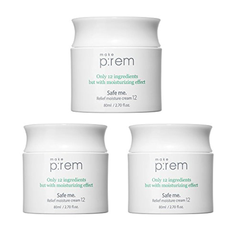 爵面損なう(3個セット) x [MAKE P:REM] メイクプレム セーフミ・リリーフモイスチャークリーム12 80ml / Safe me. Relief moisture Cream 12 80ml / / 韓国製 . 海外直送品