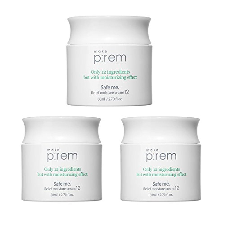 (3個セット) x [MAKE P:REM] メイクプレム セーフミ?リリーフモイスチャークリーム12 80ml / Safe me. Relief moisture Cream 12 80ml / / 韓国製 . 海外直送品