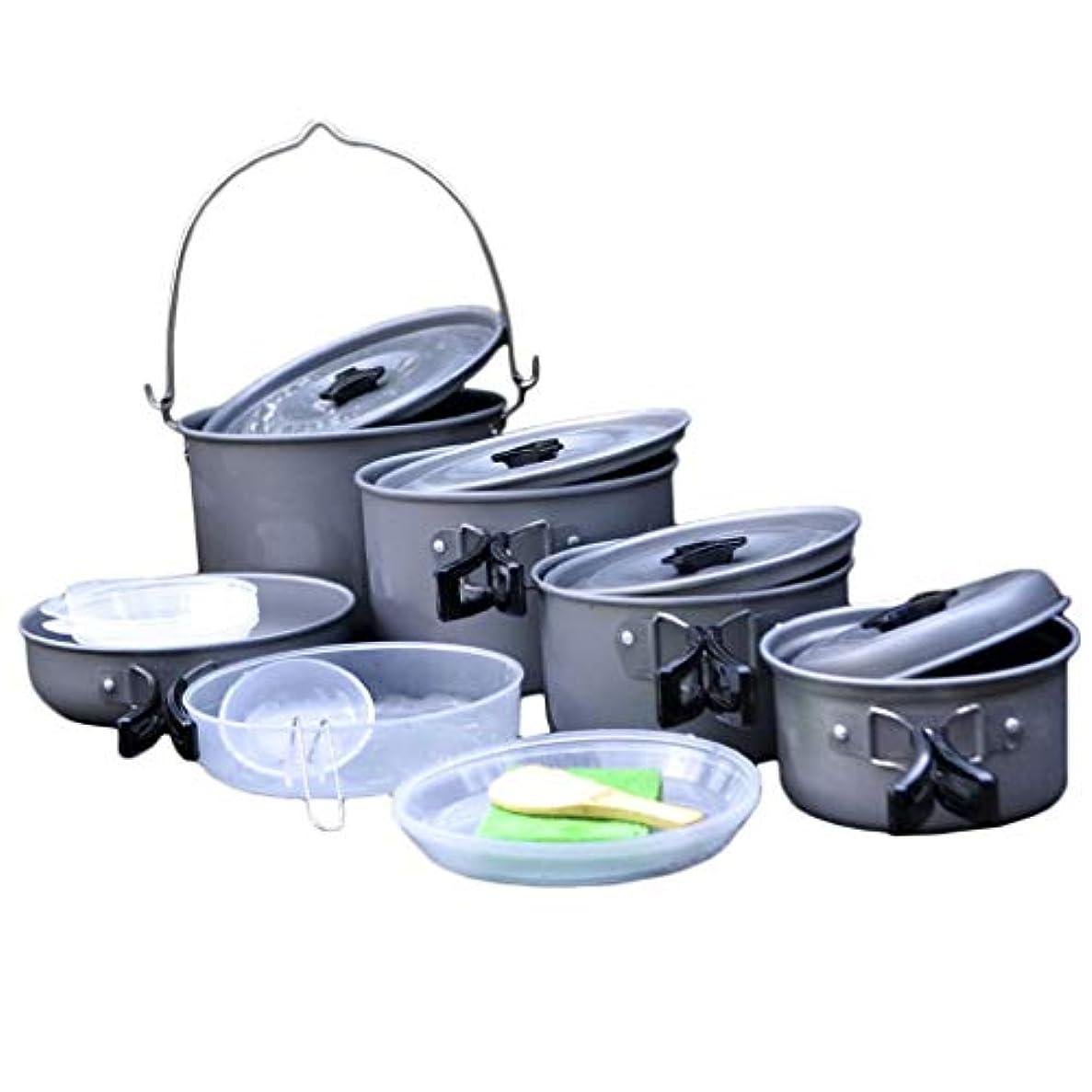 普通に遠近法キリスト屋外ポットピクニックポット食器野生の調理器具セットキャンプポットポータブル5-6人野生機器用品