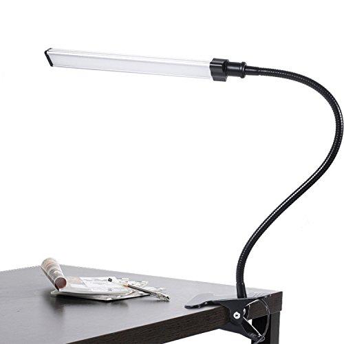LEDクリップ ライトUSB,明るさ調整可能 360度回転 目に優しい フレキシブル アーム ベッドランプ読書やPC作業に適用 センサーライト(銀色)ミニテーブルランプ 省エネKingstar