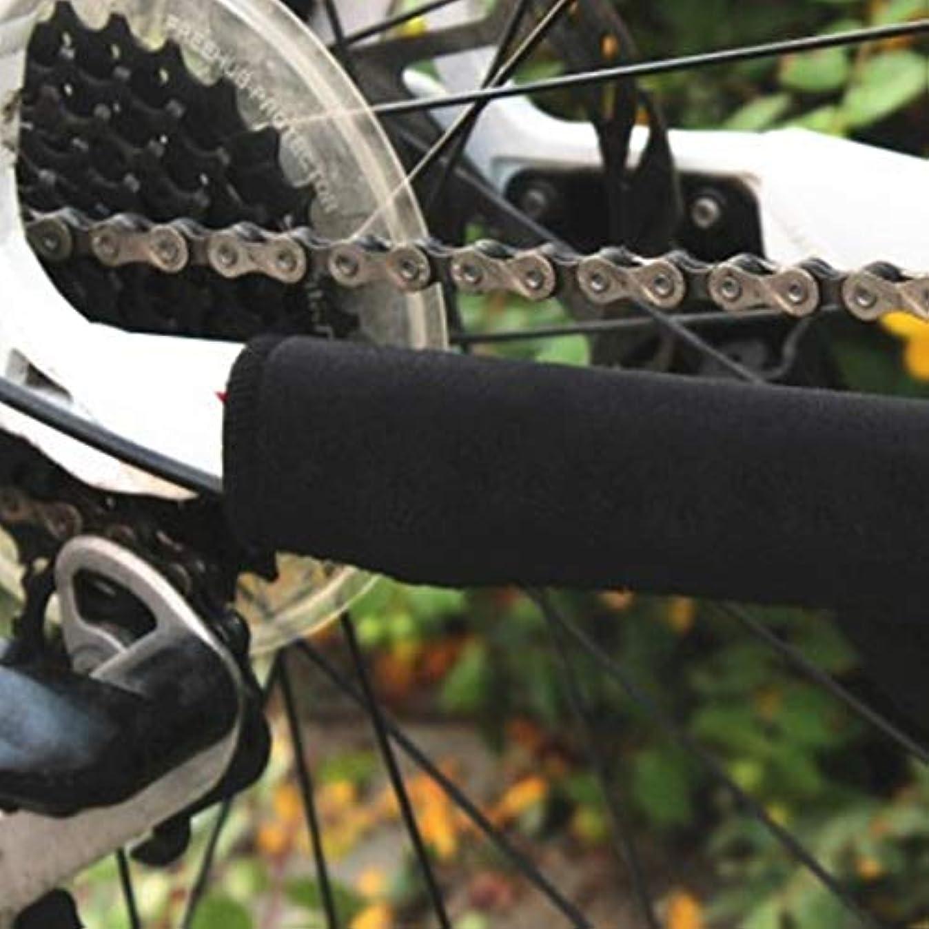なくなるスタッフ従順自転車インナーチューブ - 2ピース 21x10cm 自転車 サイクリング チェーン フレーム チューブ ラップ ガード カバー フレーム プロテクター 自転車 ステッカー