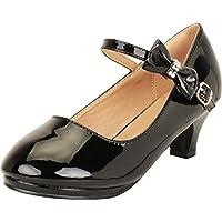 Cambridge Select Girls' Mary Jane Crystal Rhinestone Bow Low Heel Dress Pump (Toddler/Little Kid/Big Kid)