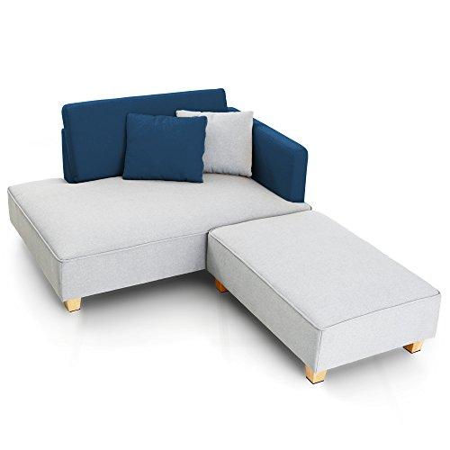 LOWYA/オットマン付きコーナーソファ