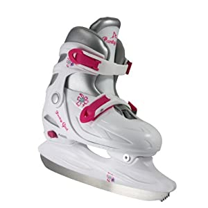 American Athletic Shoe Girl's Party Adjustable Figure Skates White Small/Size 10-13 Youth 4-6 Years [並行輸入品]