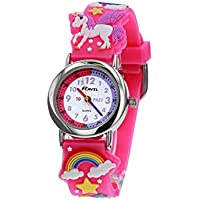 Ravel Children's 3D Pink Unicorn Kid' s Girl's Time Teacher Watch