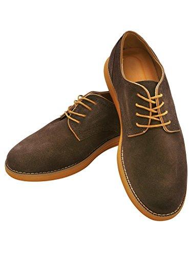 RONDE カジュアルシューズ スエードシューズ 滑り止め加工 メンズ 靴 ブラウン 26cm