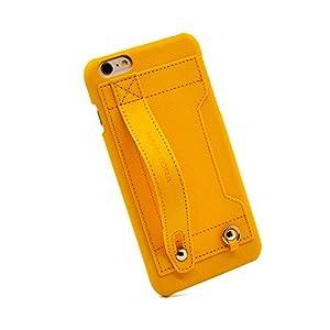 【HANATORA】 iPhone 6s Plus/6 Plus (5.5インチ) ケース Handy ハードケース ハンディベルト PUレザー イエロー