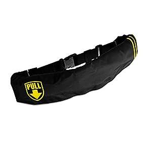 AQUATEX(アクアテックス) ライフジャケット ライフジャケット 手動膨張式 インフレータブル ベルトタイプ 男女兼用 フリーサイズ lj-bs-001-f-lyellow lj-bs-001-f-lyellow 黒(ライン:イエロー)