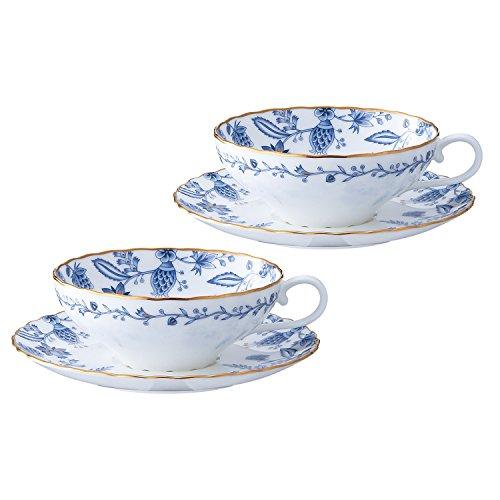 Noritake(ノリタケ) ボーンチャイナ ブルーソレンティーノ ティー碗皿 ペアセット P58043A/4562
