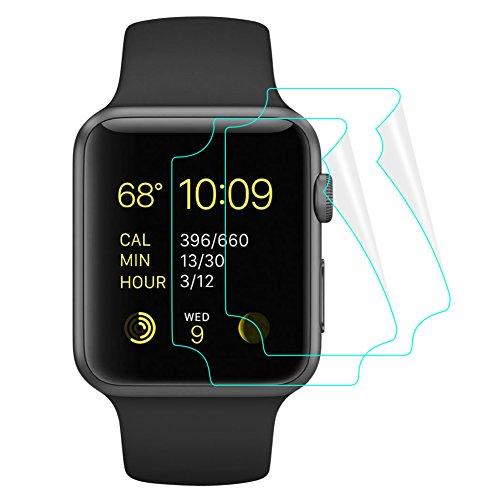 [해외]2 장 세트 SUPTMAX Apple Watch 3 필름 TPU 재질 부드러운 Apple Watch Series 3 필름 자기 흡착 촉감 부드러운 series 2 | 3 지원/2 pcs set SUPTMAX Apple Watch 3 film TPU material Soft Apple Watch Series 3 film self adsorption touch smoot...