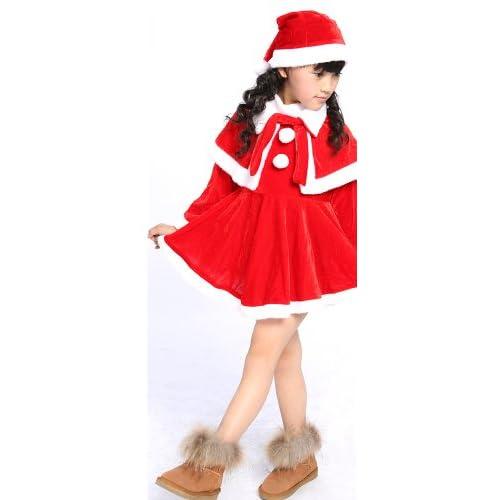 サンタ コスチューム キッズ  子供用 サンタ コスチューム クリスマス衣装・ 子供用サンタクロース衣装 /子供用サンタ衣装・コスプレ・コ スチューム・仮装 (Lサイズ100~120cm)