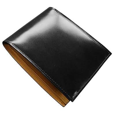 FLYING HORSE コードバン二つ折り財布 (ブラック)