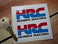 Honda Racing HRC Stickers ホンダ カッティング ステッカー シール デカール バイク 75mm x 35mm 2枚セット [並行輸入品]