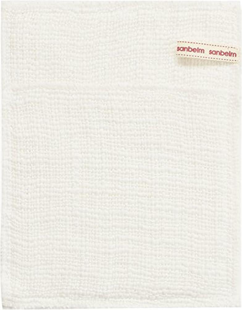 沈黙鮮やかな予測サンベルム (SANBELM) お風呂 体洗い 綿100%生地使用 ボディタオル ホワイト 約16x21cm ボディケアミトン  B34613