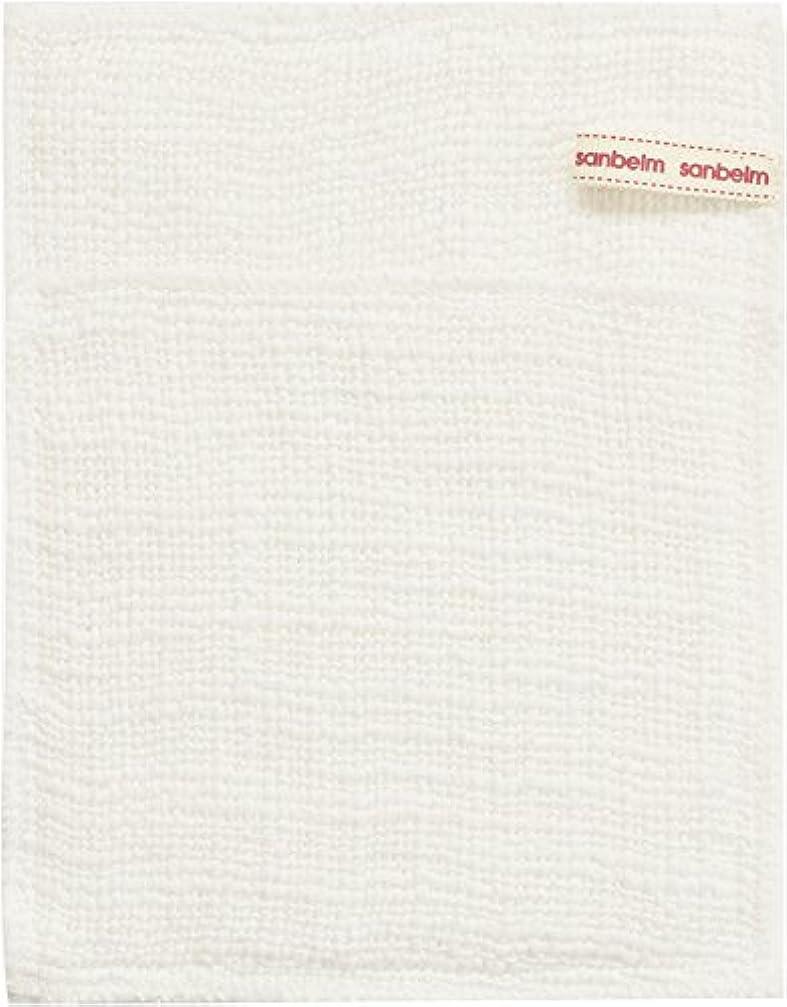 トリプルキャラクター圧倒的サンベルム (SANBELM) お風呂 体洗い 綿100%生地使用 ボディタオル ホワイト 約16x21cm ボディケアミトン  B34613