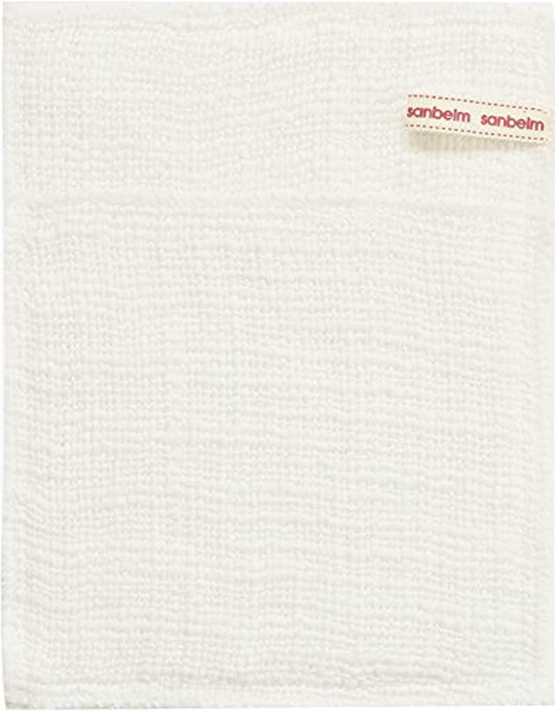 インターネット熟す噛むサンベルム (SANBELM) お風呂 体洗い 綿100%生地使用 ボディタオル ホワイト 約16x21cm ボディケアミトン  B34613