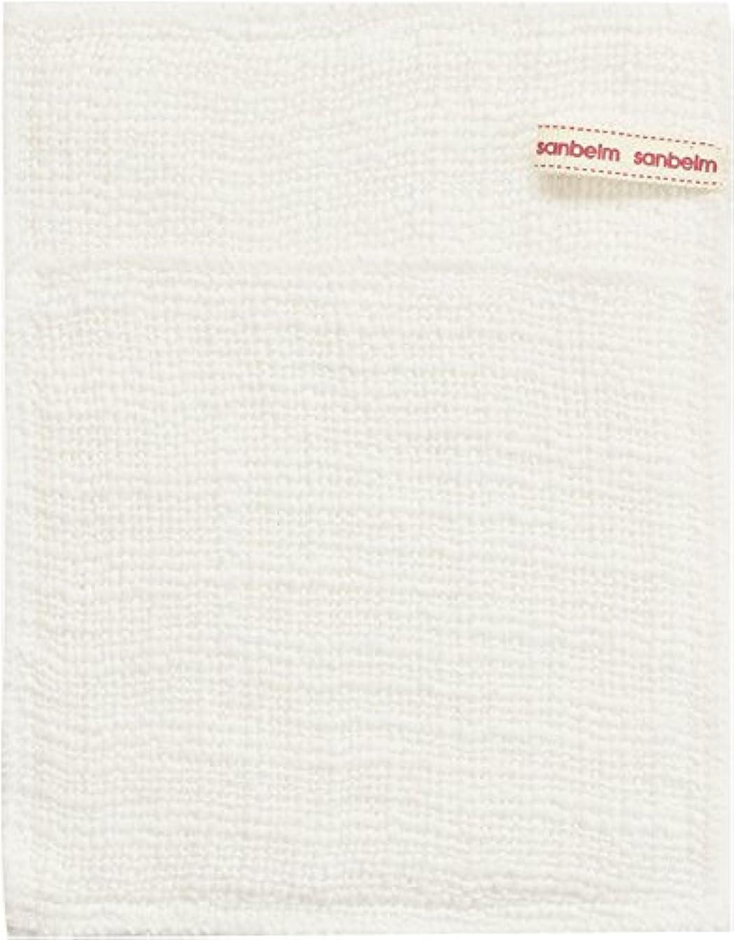 傾向頭痛肉サンベルム (SANBELM) お風呂 体洗い 綿100%生地使用 ボディタオル ホワイト 約16x21cm ボディケアミトン  B34613