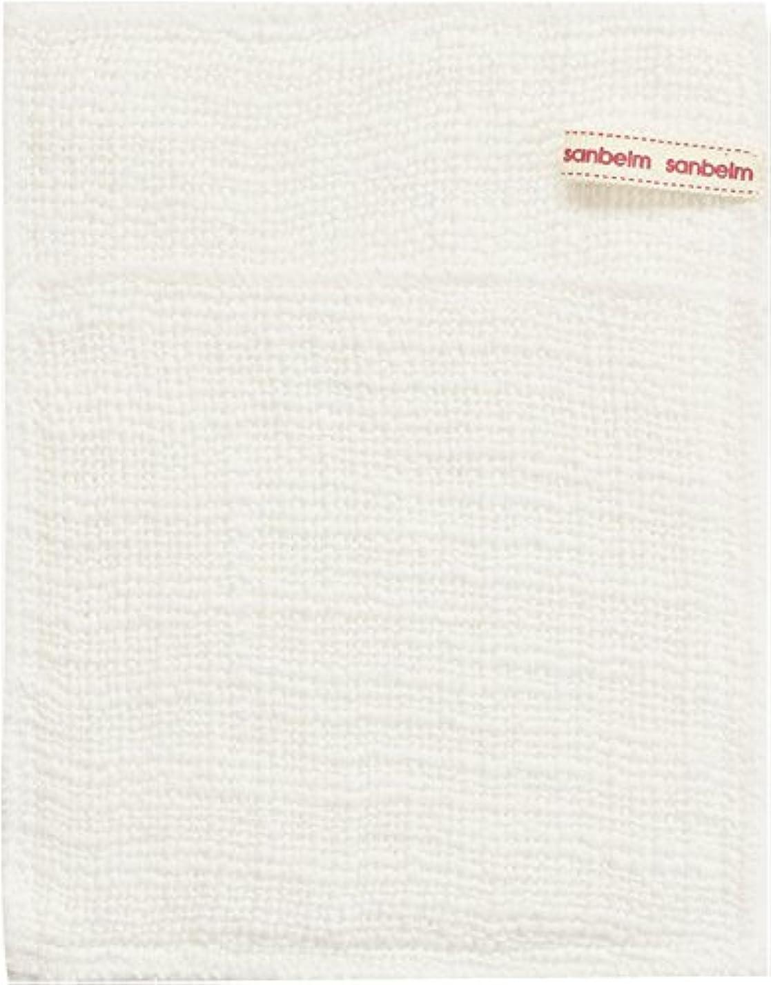 ピンチキャンペーン保守可能サンベルム (SANBELM) お風呂 体洗い 綿100%生地使用 ボディタオル ホワイト 約16x21cm ボディケアミトン  B34613