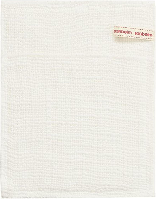 学生に向かっての間でサンベルム (SANBELM) お風呂 体洗い 綿100%生地使用 ボディタオル ホワイト 約16x21cm ボディケアミトン  B34613