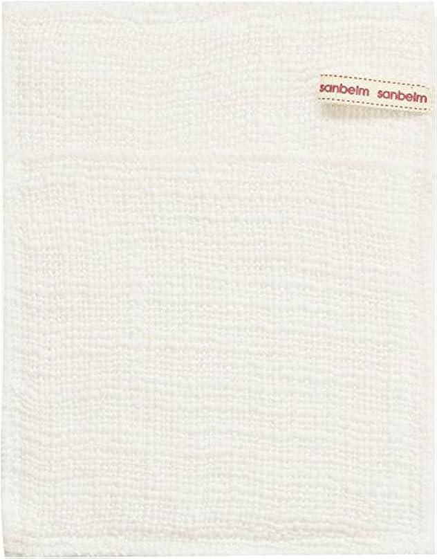 サンベルム (SANBELM) お風呂 体洗い 綿100%生地使用 ボディタオル ホワイト 約16x21cm ボディケアミトン  B34613