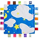 G-Tree Blue Baby Tag,Baby Taggy Blanket - Blue with Cloud Tag, Taggy Blanket Best Gift for Newborn Boy and Girls
