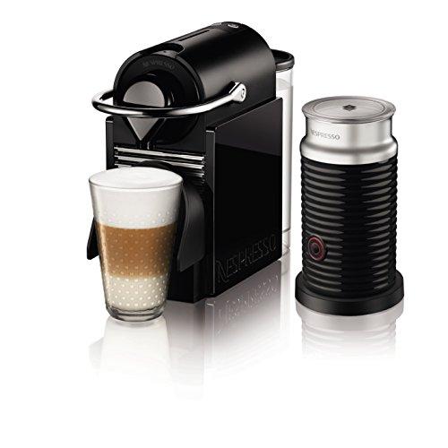 ネスプレッソ コーヒーメーカー ピクシークリップ エアロチーノセット ブラック&レモンイエロー C60BY-A3B