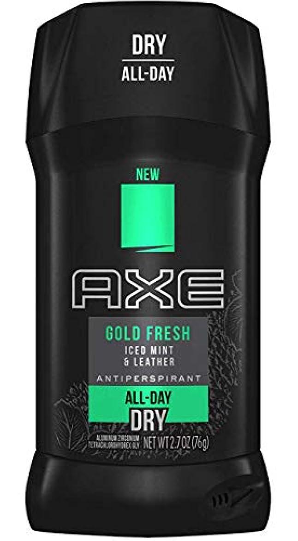 厚くする策定するおじさんアックス AXE メンズ デオドラント ゴールドフレッシュ アイスドミント&レザー 男性用 固形 制汗剤 オールデイ ドライ 76g
