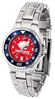 South Alabama Jaguars競合他社スチールAnochromeレディース腕時計–色ベゼル