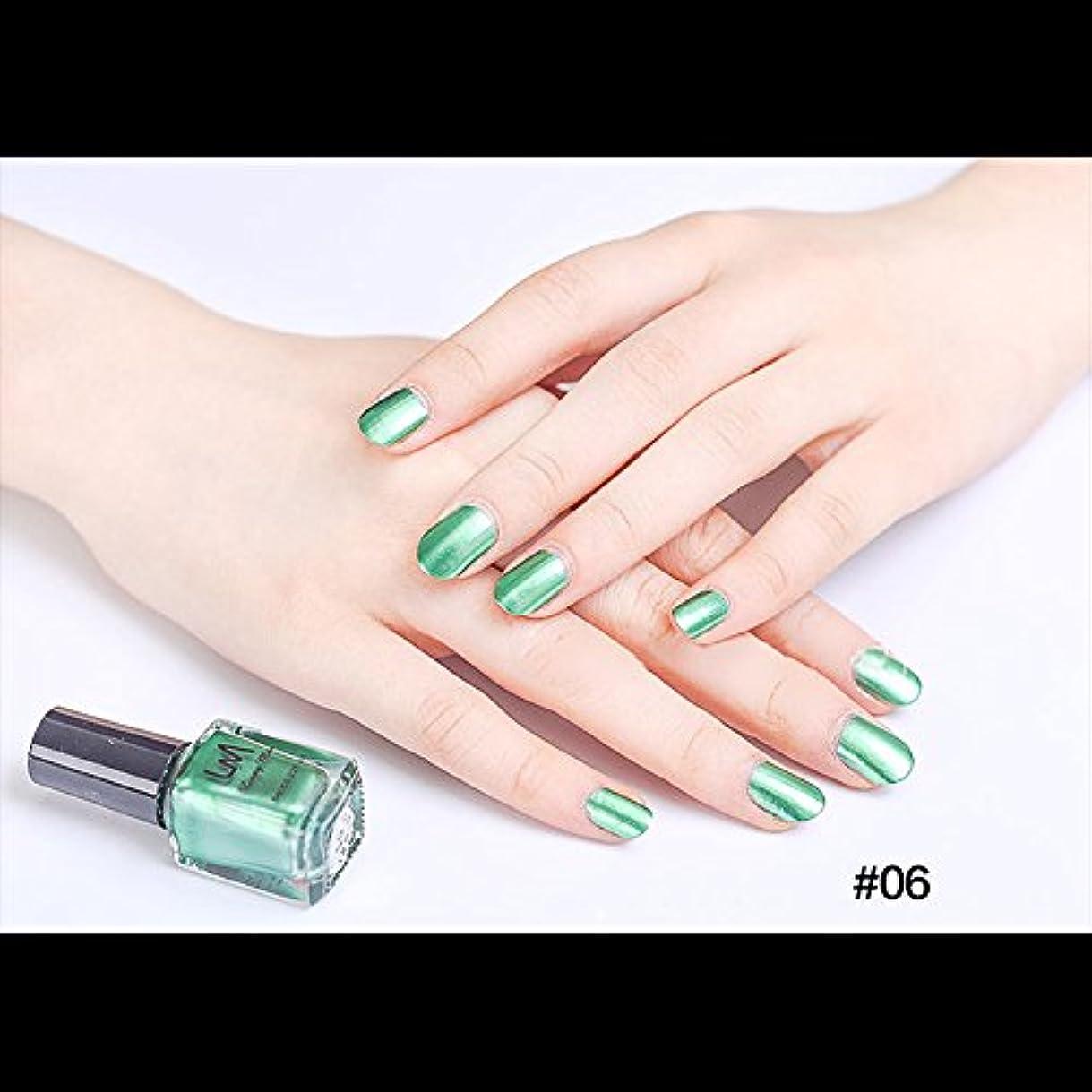 サイト痛みトーストhjuns-Wu マニキュア パール感 1ボトル 6ml ネイルポリッシュ(緑)