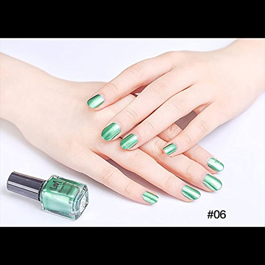 花嫁統合するシリングhjuns-Wu マニキュア パール感 1ボトル 6ml ネイルポリッシュ(緑)