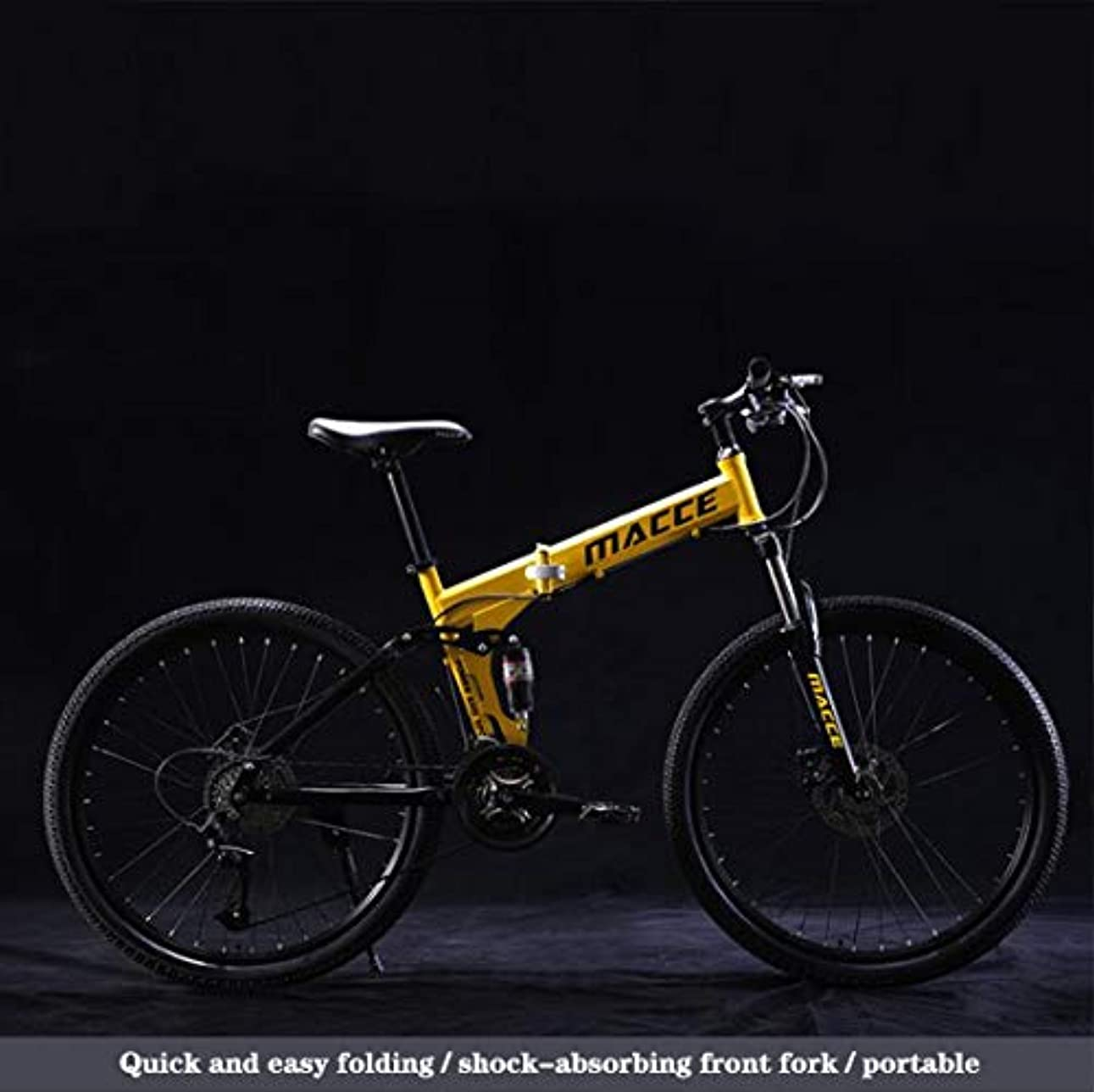 真剣に独立後大人の男性と女性、高炭素鋼デュアルサスペンションフレーム、PVCペダルとラバーグリップのための折りたたみマウンテンバイク自転車,B,21