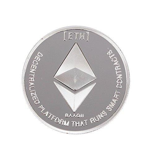イーサリアムコイン シルバーメッキ コピーコイン非通貨レプリカアートコレクションギフト仮想通貨