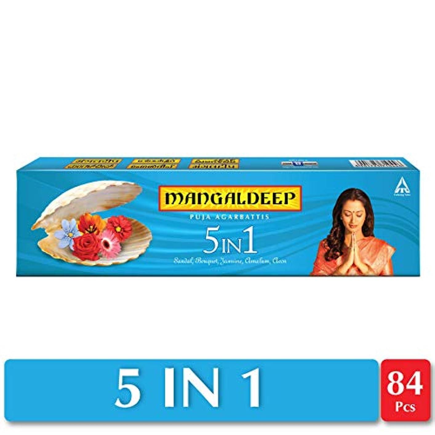 簡略化するインキュバス矢Mangaldeep 5 In 1供養Agarbattis 90 Incense Sticks