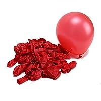 YideaHomeバルーン ゴム風船 誕生日 パーティ 文化祭 約100個 レッド