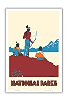 国立公園 - ネイティブアメリカン - ビンテージな世界旅行のポスター によって作成された ドロシー・ワー c.1935 - アートポスター - 31cm x 46cm