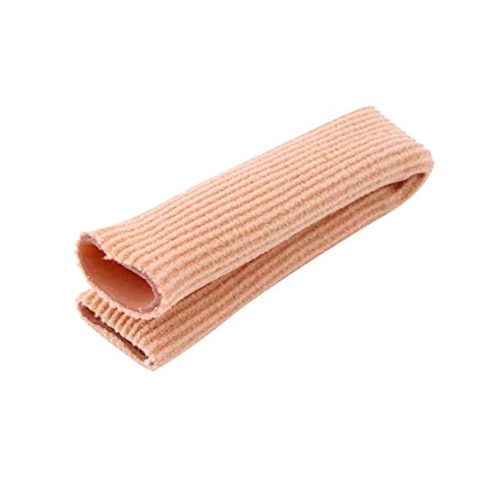 憂慮すべき左低いファブリックジェルチューブ包帯フィンガー&トゥ保護フットフィート痛み緩和フィートケア用インソール15CMフィートガード