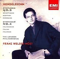メンデルスゾーン:交響曲第3番&第4番