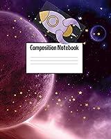 Composition Notebook: Space Journal - Purple Rocket