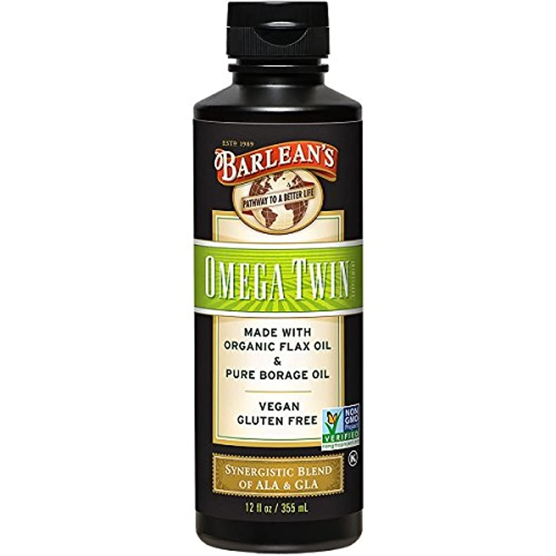 傑出した化石超音速Barlean's, Omega Twin, Complete 3-6-9 Nutrition, 12 fl oz (350 ml)