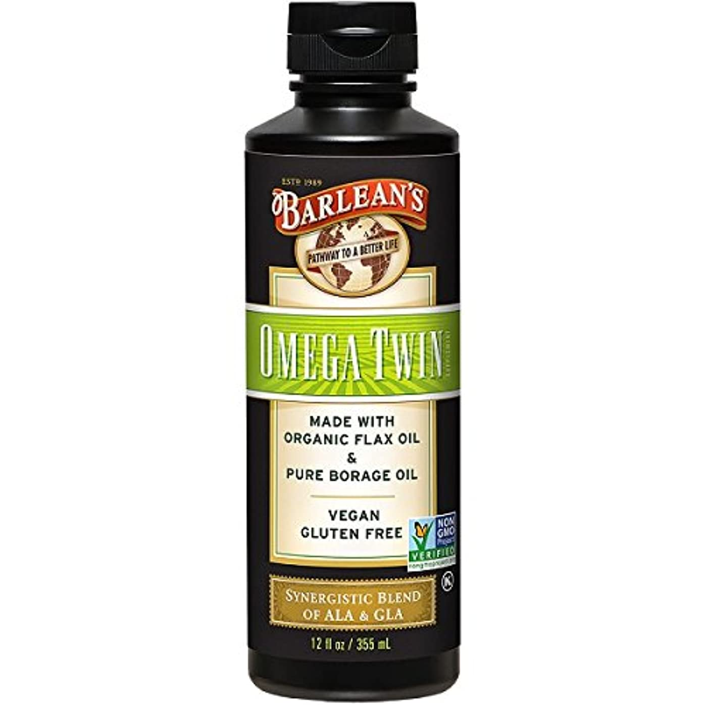 Barlean's, Omega Twin, Complete 3-6-9 Nutrition, 12 fl oz (350 ml)