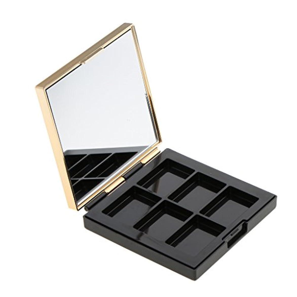 放置マスク好意Baosity 空パレット 収納ボックス 高品質 ABS製 DIY コスメ収納 メイクアップケース ミラー付き