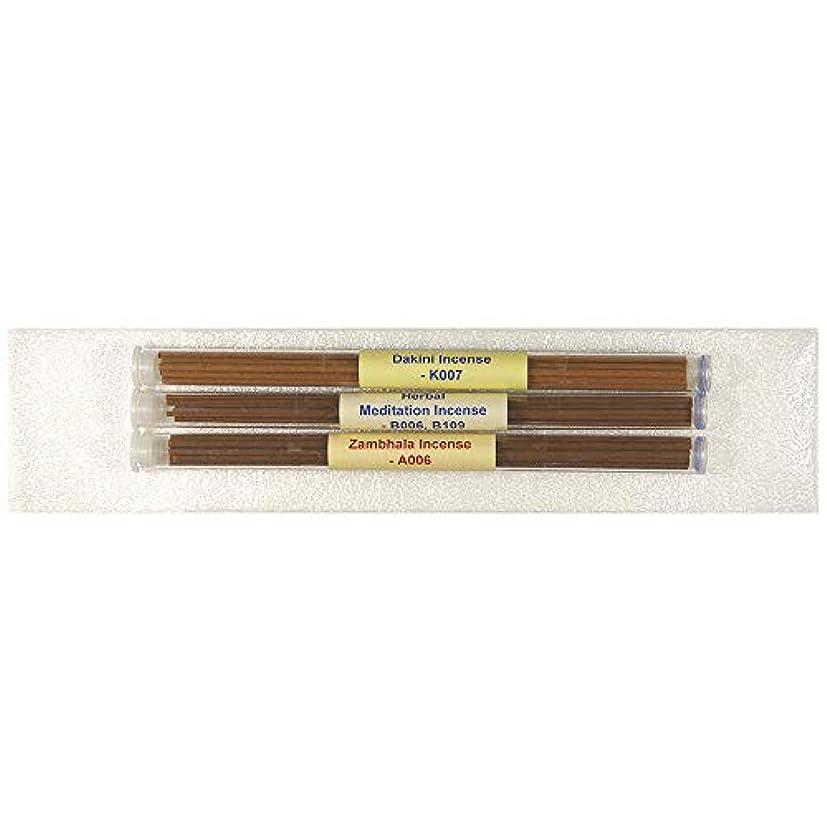 干し草拾う第五3チューブチベット香パック#2 - [Dakini Incense+ハーブ瞑想インセンス+ザンバラ香] - 8インチスティックお香 - 100%天然-Itube102