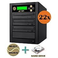 洞察力Disc 1to 2複数のDVD CD光学メディアコピー機Duplicatorマシン内蔵500GBハードディスクドライブHDD toディスクコピー(スタンドアロンオーディオビデオコピータワー、重複Discデバイス)