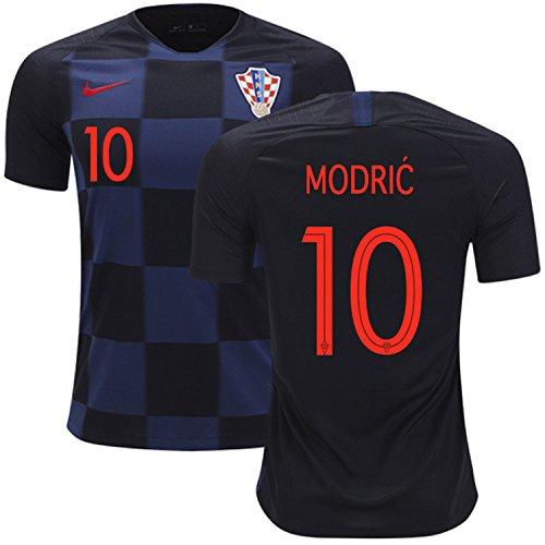 サッカー Croatia (クロアチア)MODRIC ワールドカップ 2018 World Cup ユニフォーム半袖 ブラック&ブルー