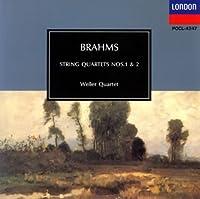 ブラームス:弦楽四重奏曲1&2
